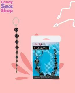 49. X 10 Beads – Black.  (ja5795)