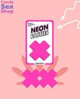 65.  Neon Pasties Pink
