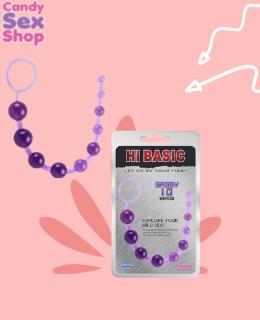 10. Sassy Anal Beads Moradas Hi Basic Chisa (ja3306)