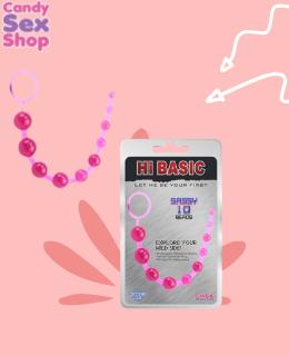 17. Sassy Anal Beads Pink Hi Basic (ja3433)