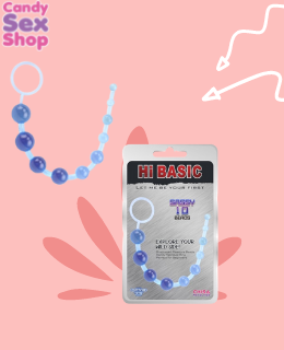 18. Sassy Anal Beads Blue Hi Basic (ja3434)