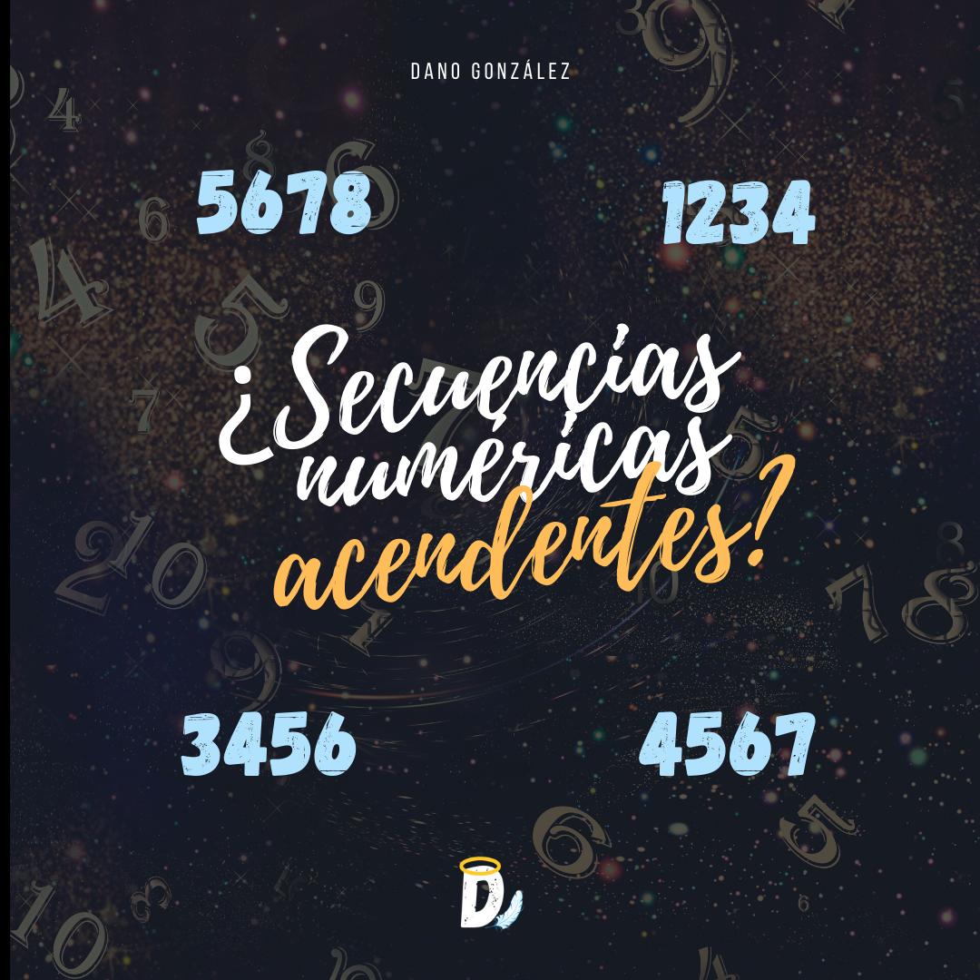 ¿Qué significan las secuencias numéricas ascendentes?