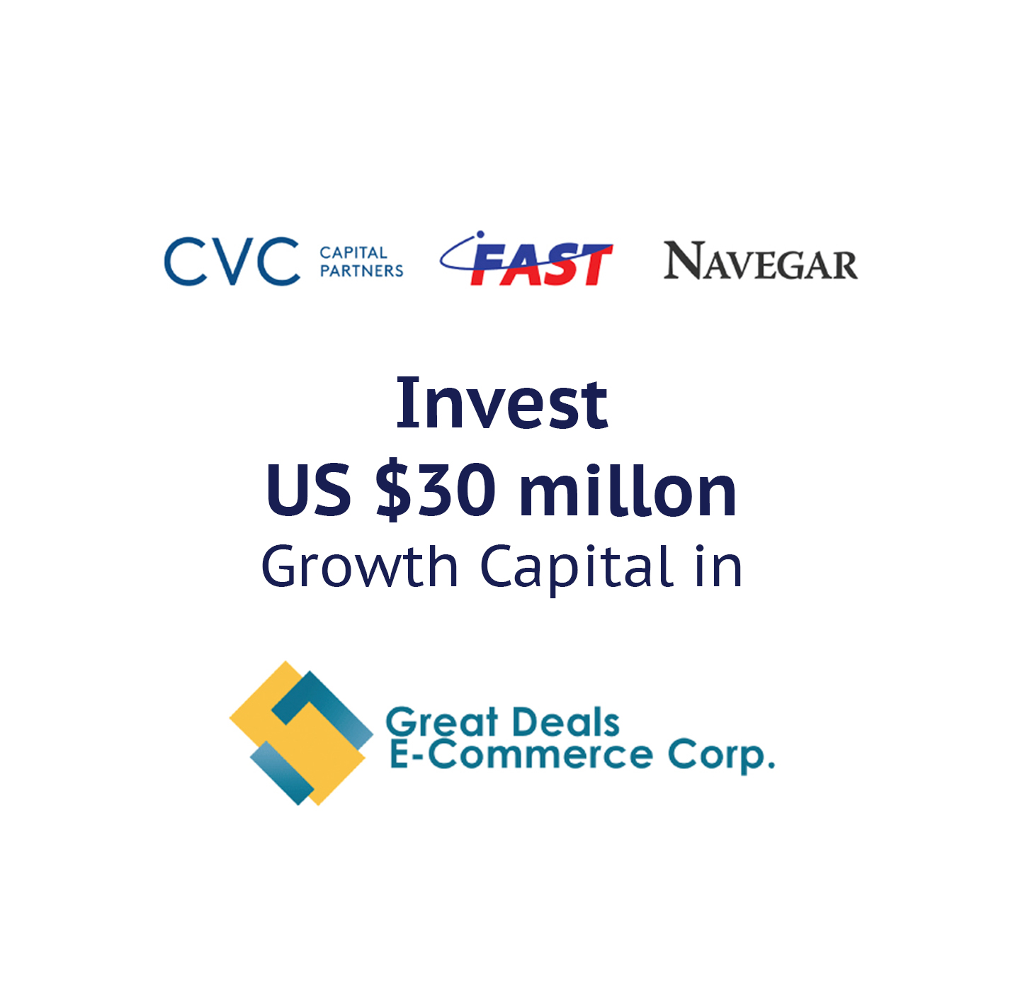 Rocket Equities Deal with Great Deals e-commerce corp with CVC Capital Partners, Fast Logistics an Navegar as the lead investors